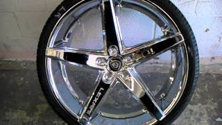 DUBSandTIRES.com 20 & 22 Inch Lexani R4 Concave Chrome Wheels and Tires for Corvette C6 Rims