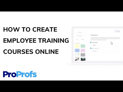 How to Create Employee Training Courses Online - YouTube