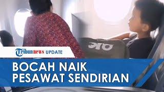 Video Bocah Naik Pesawat Sendiri dari Banjarmasin ke Jakarta, Kunjungi Sang Ayah di Rumah Sakit