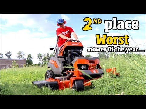 Best & Worst lawn Mower of the Year- Husqvarna, Toro Grandstand or Wright stander z