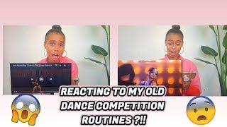 REACTING TO MY OLD DANCE ROUTINES??!!(AUDC , DANCE MOMS , RAISING ASIA )