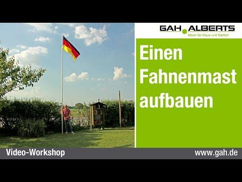 GAH-Alberts: Einen  Fahnenmast aufbauen