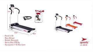TREADMILL LX 042-101 ( 3 WARNA) SPEEDS INDONESIA