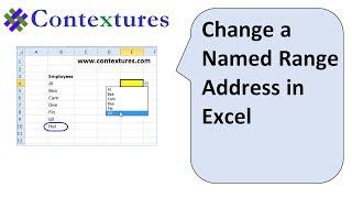 Change a Named Range in Excel