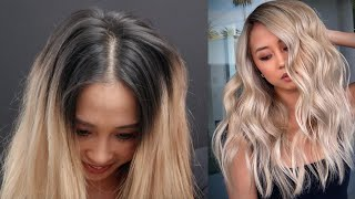 Black To Blonde Hair In One Session