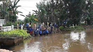 Antisipasi Longsor Melebar saat Hujan, Sudin SDA Jakbar Perbaiki Turap di Bendung Polor Kali Angke