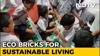 Building Eco Bricks By Recycling Plastic