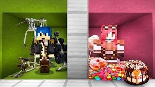 Minecraft ITA - STANZA MAGRA VS STANZA GRASSA!!