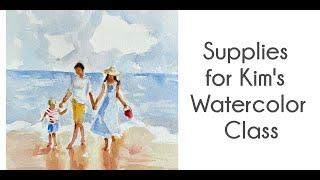 Art Supplies for Watercolor Class