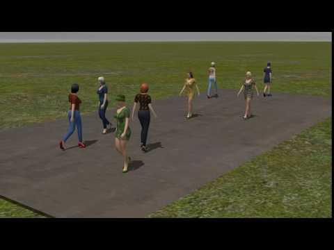 animierte gehende Frauen im EEP-Shop kaufen
