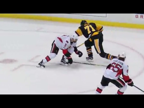 Methot stops Malkin with perfectly placed hip-check