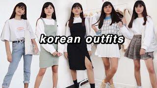 KOREAN OUTFIT IDEAS (blackpink & BTS giveaway!)