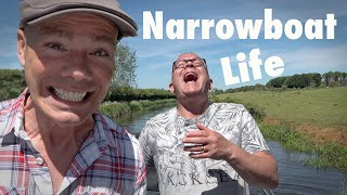 Summer Life on a Canal Narrowboat