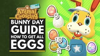 Animal Crossing New Horizons | BUNNY DAY GUIDE - How to Get All Eggs & Find Crafting Recipes