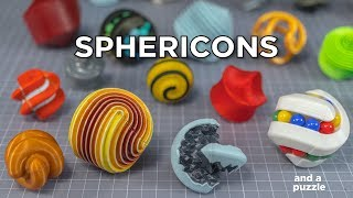 My Super Sphericon Collection with Astrolabicon Puzzle