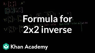 Linear Algebra: Formula for 2x2 inverse
