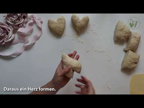 Spelt Ciabatta Hearts - How to Video (in German)
