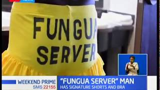 The man behind 'Fungua Server':One man from Kisumu county stood out with his signature dressing duri