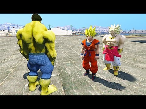 GTA V - GOKU VS HULK (GTA 5 SUPER FIGHTS Mods)