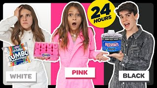 Eating Only ONE Color of Food for 24 Hours! **Food Challenge** W/ Piper Rockelle  Sophie Fergi