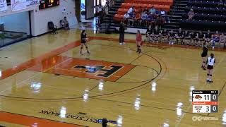 August 28, 2018 Tahlequah volleyball vs. Coweta
