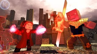 Avengers Endgame Scarlet Witch VS Thanos Minecraft Animation