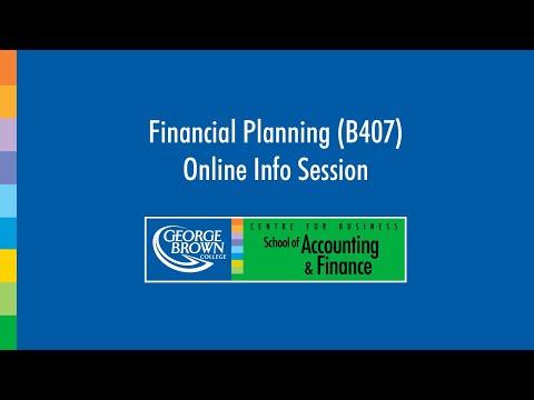 Financial Planning Program (B407) Online Info Session