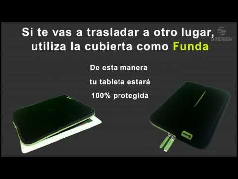 Video referente a La Cubierta Protectora Steren para tabletas