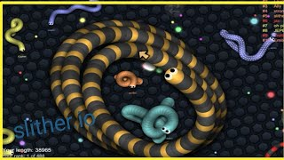 Slither.io you final length was 51 857 score topped top 1 server 《Great snake fight》