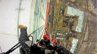 Как спускается альпинист с 38 этажа - видео онлайн