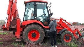 The Tractor Excavator broken down Funny Baby Ride on POWER WHEEL Plane Help | Excavator for kids