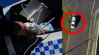 COPS COME WHILE ILLEGALLY FLYING DRONE