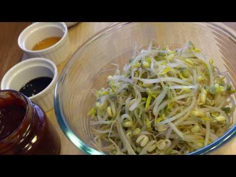 Корейская кухня. Пророщенный маш. Салат.