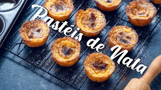Pastéis de Nata - Portuguese Custard Tarts by Home Cooking Adventure