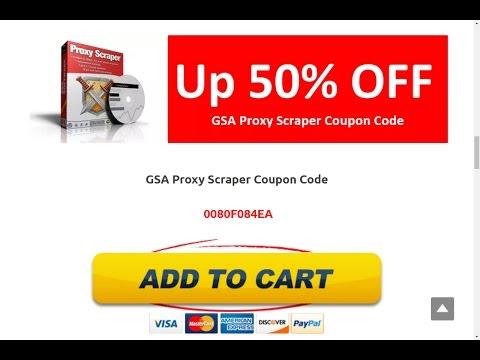 GSA Proxy Scraper Coupon Code
