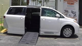 Toyota Sienna Limited drop floor wheelchair conversion