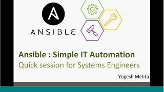 Ansible Online Training - Part 1
