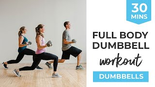 30 Minute Workout Video: Full Body Dumbbell Workout