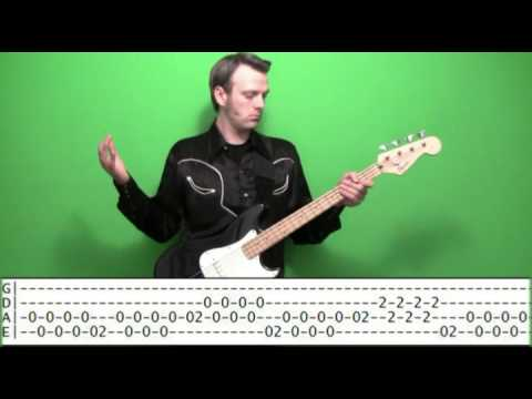 Bass Guitar Lesson - Country Polka Mariachi with Tabs