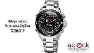 Relógio Technos Masculino Performance SkyDiver T20560 1P - Eclock cac1c085f3