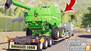 BIG PURCHASE AT THE FARM | OVERSIZE LOAD | JOHN DEERE | FARMING SIMULATOR 2019