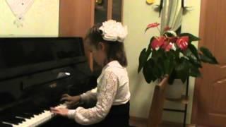 """Шаманаева Катя 8 лет, 2 класс конкурс юных пианистов """"Истории из """"Детских альбомов"""""""
