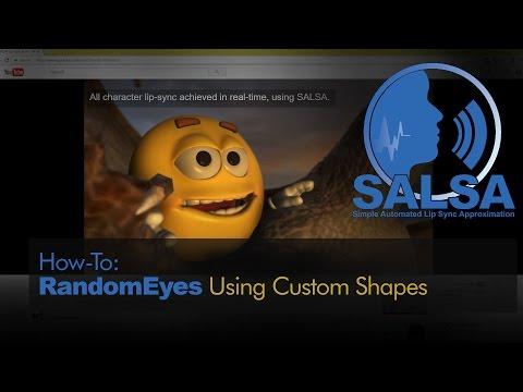 SALSA Lip-Sync - RandomEyes Using Custom Shapes