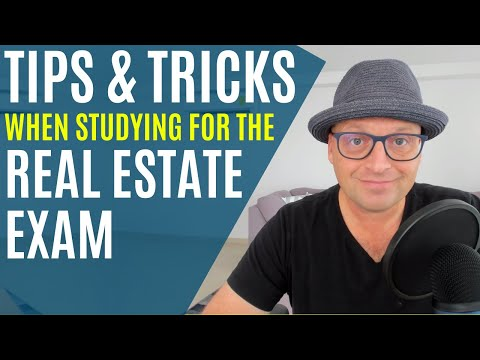 TIPS & TRICKS to help study for the REAL ESTATE EXAM! - YouTube