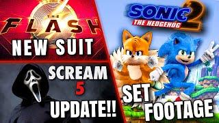 ソニックムービー2セットの映像、スクリーム5のアップデート、フラッシュの新しいスーツなど!!