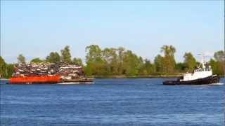 Sea Warrior with scrap cars.