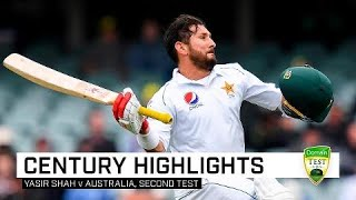 Pakistan leg-spinner Yasir Shah defied, thwarted and frustrated the Australians all the way to a Test match century, finishing with a brilliant 113 in the second Test.