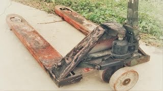 Restoration forklift truck old broken | Restore lifting machine Hydraulic rusty oil rusty
