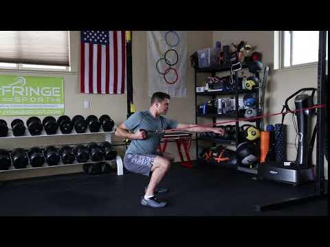 BAND squat single arm banded row