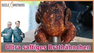 Saftiges Grillhähnchen   Oktoberfest Hähnchen mit Injektion